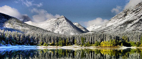 Snow cover mountains